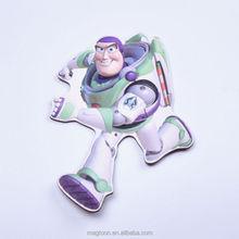 Hecho en fábrica baratas encantadora Buzz Lightyear diseño plana imanes de nevera papel