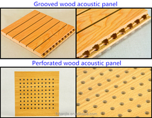 Grooved Wooden Acoustic solution conference room sound insulation system