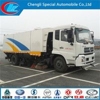 High performance Sweeper Truck DONGFENG Tianjin 4X2 mini road sweeper for loader