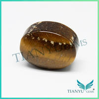 Factory price high quality oval shape flat natural yellow tiger eye precious stones