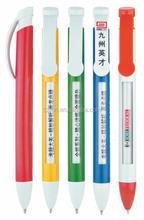 plastic window message ballpoint pen for promotion