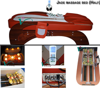 Infrared Jade Massage Bed Mini Muscle Stimulator Massage Table for Healthcare Centre