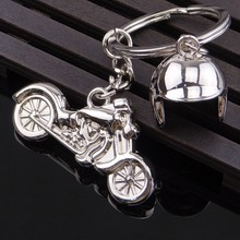 custom metal motorcycle keychain for man or business gift