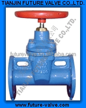 DIN3352 F5 Cast Iron Rising Stem Resilient Seated Gate Valves (Z41X-16)