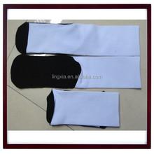 Wholesale Custom Sport white blank sublimation socks, custom basketball Polyester blank socks, blank socks in polyester