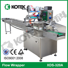 Horizontal Flow Salami Cold Meat Roll Packaging Equipment Pillow Chorizo Packing Wrap Automatic Beef Sausage Wrapping Machine