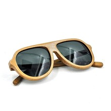 Beautiful wooden big frame polarized sunglasses, uv protective glasses