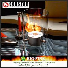 Modern real fire fireplace with bio ethanol fuel