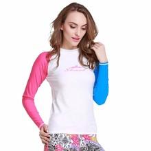 SBART New 2015 Long Sleeve Rashguard Swim Shirts Women Swim Surf T Shirt Rash Guards Swimwear Scuba Diving Skin Suit Lycra Upf J