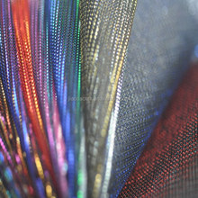 silver fiber fabric flash effect fabric for party dress party decoration