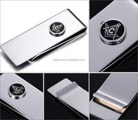 Stainless Steel Wallet Money Clip Custom Masonic Money Clip Jewelry Supplier