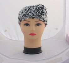 2015 fashion acrylic crochet flower women head band