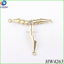 Gold metal T chain for summer women wear connect chain and shoes decrative buckle