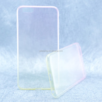 new design for iphone 6 plus gradient color or mix color ultrathin tpu mobile phone cover
