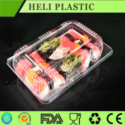 PET disposable transparent plastic sushi container/tray