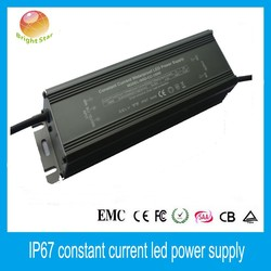 High PFC low ripple constant current waterproof 150W led driver for tunnel lights