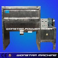 dry powdered paint wst horizontal powder mixer working video