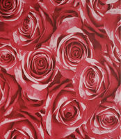 Detai non-woven modern style decorative red rose wallpaper