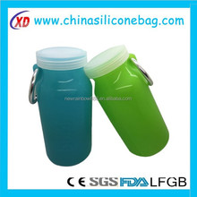 350ML glass coffee tea water bottle with bamboo plastic lid