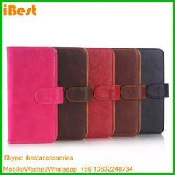 iBest best selling leather case For htc one m9 have ID card and credit card slots, For Htc One M9 Leather