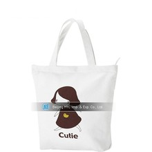 Wholesale in stock cheap customed printing shopping plain canvas bags