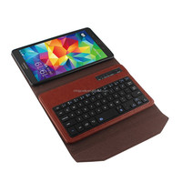 Removable azerty Bluetooth Keyboard Magnetic Flip case cover for samsung galaxy tab s 8.4