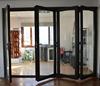 Bi-folding style aluminum frame tempered hollow glass balcony door