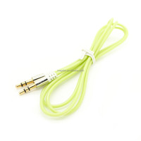 colorful pvc jacket gold plated male to male audio/aux/av cable for car/smartphone/speaker