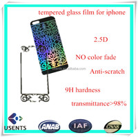 dongguan best screen protector film for iphone6, anti-scratch clear colored mobile tempered glass screen protector