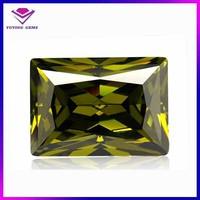 high value Burma rectangle peridot gemstone Guardian stone