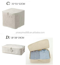 Large quilt bag zipper waterproof clothes cotton storage container