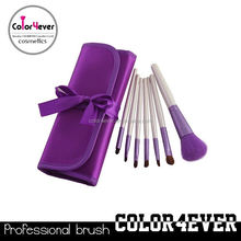 Aliexpress hot!7pcs lovely purple case hot style makeup brush synthetic makeup brushes