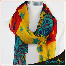 Star Leopard Zebra Printing Cheap Polyester South Africa Scarf