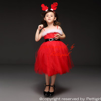 2015 Hot Sale Girl Dress Fur Red Princess Party Dresses With Rhinestone Belt And Bow Children Clothes Free Shipping GD41030-01