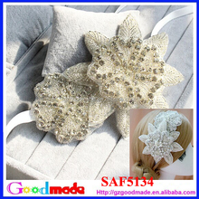 glorious crystal flower headband with rhinestone for crystal bridal headband