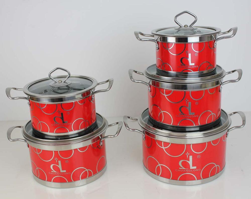 Keuken accessoires, rode roestvrij staal kookgerei-kookgerei sets ...