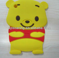 3D bear design silicone case for ipad mini