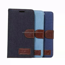 Jeans flip wallet leather phone case for Sony xperia C4