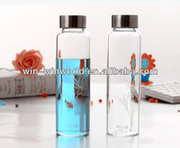 New Product Promotional Gift Portable Reusable Refill Creative Glass Bottles For Mineral Water