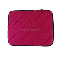 2015 Latest style with high quality neoprene laptop sleeve with embossing