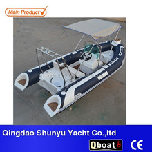 4.7m rigid double inflatable boat with outboard motor for sale