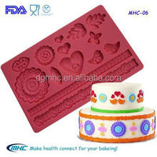 Popular cake mold , silicone cake decorating molds , silicone fondant mould
