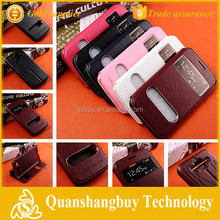 G360 view case pu leather flip cover for Samsung Galaxy Core Prime G360 G3606 G3608