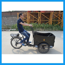 Electric assist pedal cargo bike tricycle