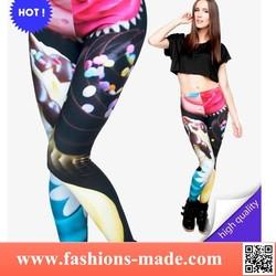 Fashion Leggigs Print Colorful Cupcake