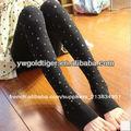 Photos de filles sexy collants mode sans pieds polka dot coeur d'épaisseur. hiver, polaire chaude collants femmes