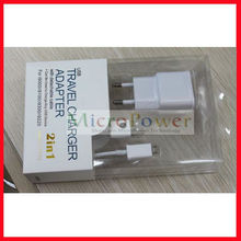 Mobile 2 in 1 USB 2.0 Charger/Adapter Kit For Samsung/ HTC Android Smart phone