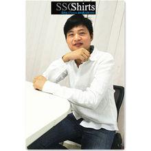 Sscshirts 2014 100% de moda casual camisa de lino de los hombres