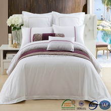 new arrival polyester/cotton satin queen size luxury bedding for hotel