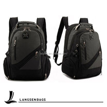 Black18 inch strong waterproof laptop backpack for teenagers